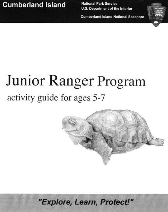 Junior Ranger Program: Cumberland Island / Activity Guide for Ages 5-7