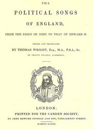 The Political Songs of England From the Reign of John to that of Edward II