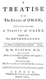 A Treatise on the Crime of Onan / Illustrated with a Variety of Cases, Together with the Method of Cure