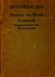 Debate on birth control Margaret Sanger and Winter Russell