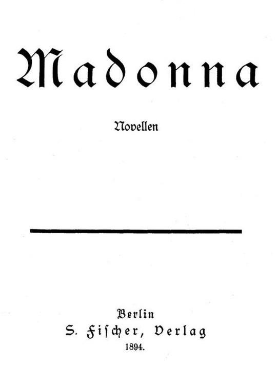 Madonna / Novellen