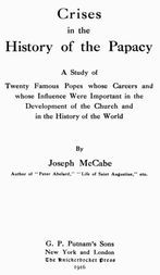 Crises in the History of the Papacy
