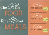 The Plus Food for Minus Meals