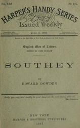 Southey / No. 134 of 'Harper's Handy Series', 'English Men of Letters'