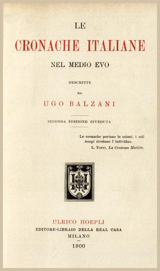 Le cronache italiane nel Medio Evo