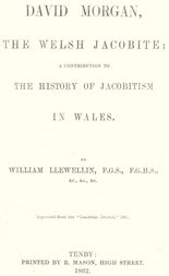 David Morgan, the Welsh Jacobite / a contribution to the history of Jacobitism in Wales
