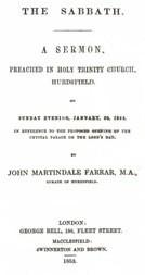 The Sabbath / a sermon preached in Holy Trinity Church, Hurdsfield, on Sunday Evening, January 30, 1853