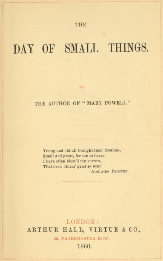 The Day of Small Things