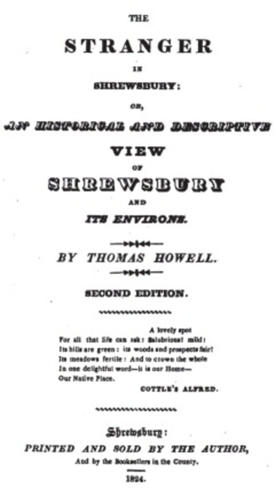The Stranger in Shrewsbury / or, an historic and descriptive view of Shrewsbury