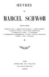 OEuvres de Marcel Schwob / Volume 1 of 2