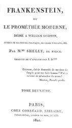 Frankenstein, ou le Prométhée moderne Volume 2 (of 3)