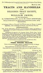 Tracts and Handbills of the Religious Tract Society, March 1st, 1843