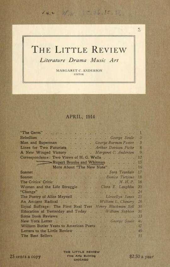 The Little Review, April 1914 (Vol. 1, No. 2)