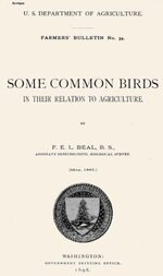 USDA Farmers' Bulletin No. 54 / Some Common Birds In Their Relation to Agriculture