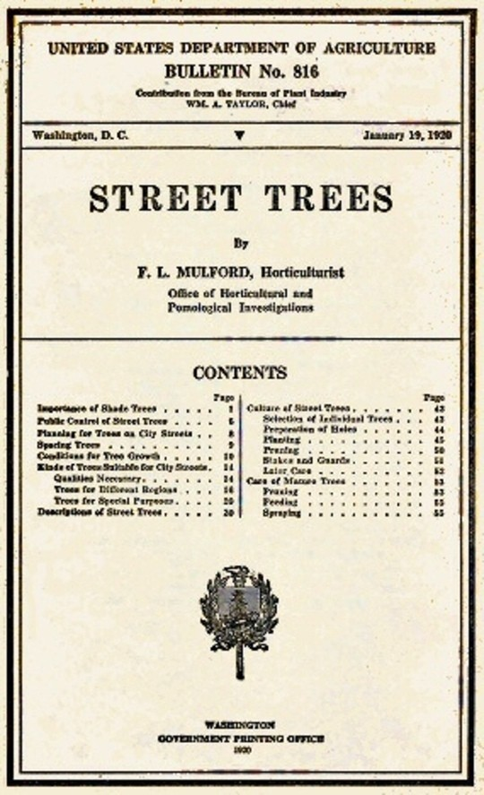 USDA Bulletin No. 816 / Street Trees