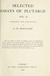 Selected Essays of Plutarch, Vol. II.