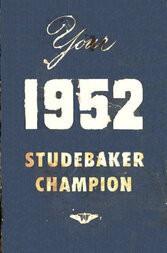 1952 Studebaker Hawk Owners Guide