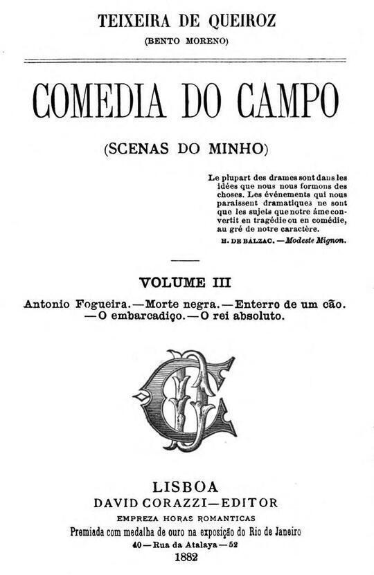 Comedia do Campo volume III (Scenas do Minho)
