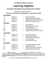 Older Children Teaching Pictures - From Our Archives For use Sept. - Dec. 2020