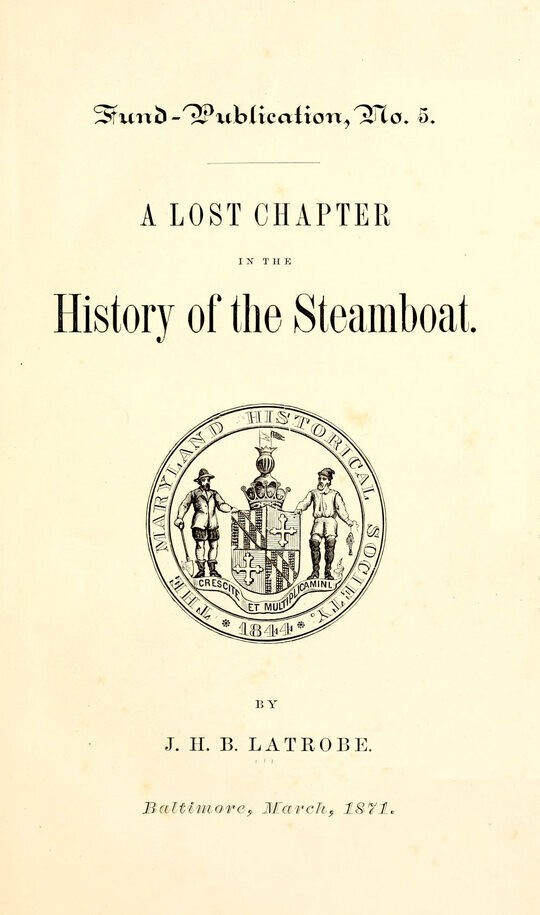 A Lost Chapter in the History of the Steamboat