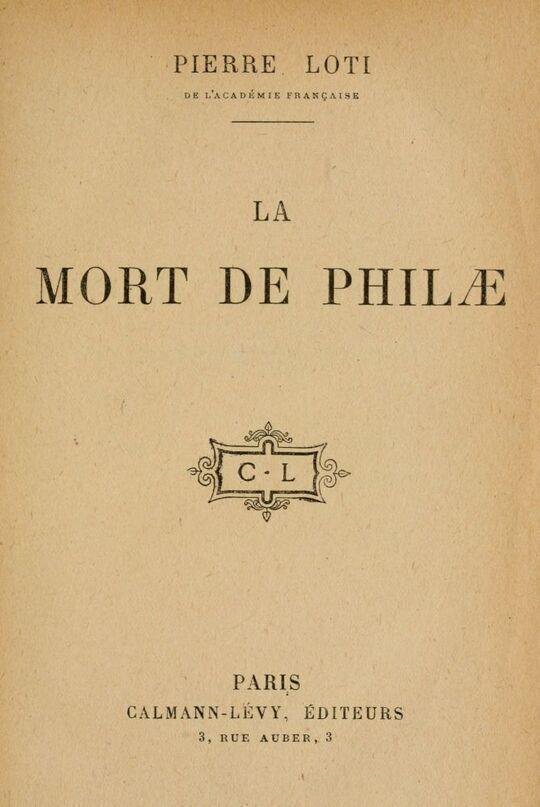 La mort de Philæ