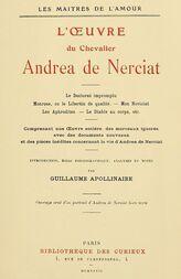 L'oeuvre du chevalier Andrea de Nerciat (1/2)