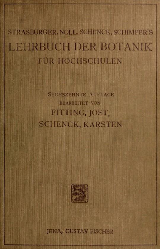 Lehrbuch der Botanik für Hochschulen