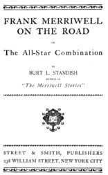Frank Merriwell on the Road The All-Star Combination