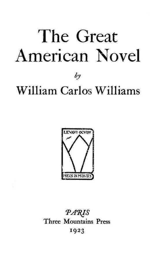 The Great American Novel