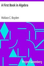A First Book in Algebra