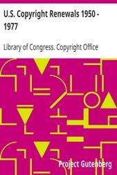 U.S. Copyright Renewals 1950 - 1977