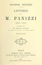 Lettres à M. Panizzi, tome II