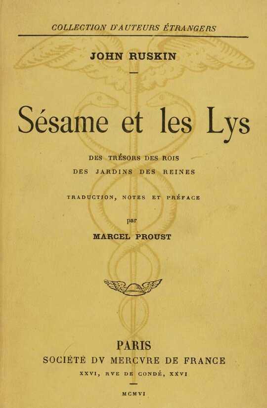 Sésame et les lys: