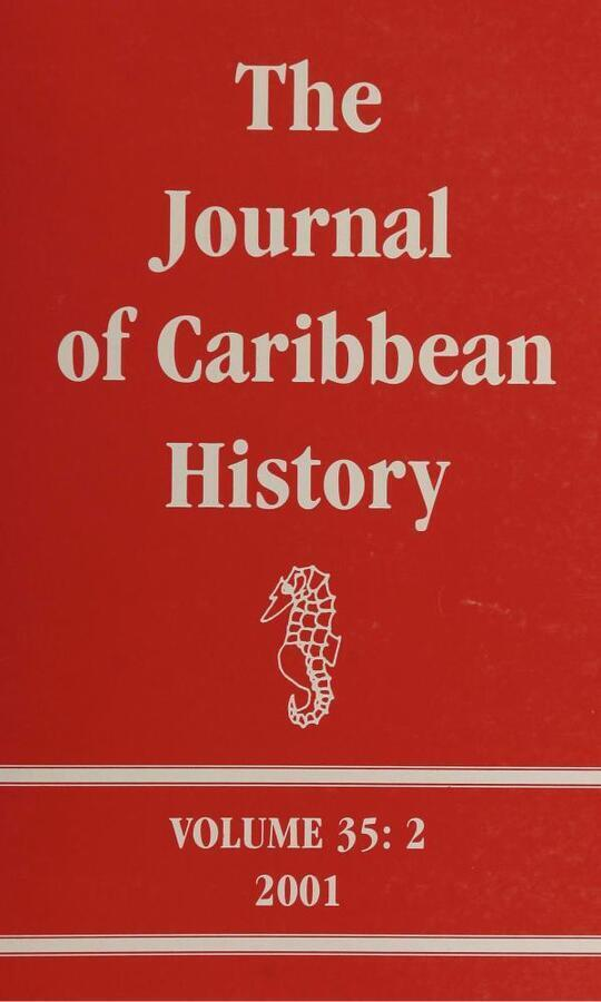 The Journal of Caribbean History Volume 35 Issue 2
