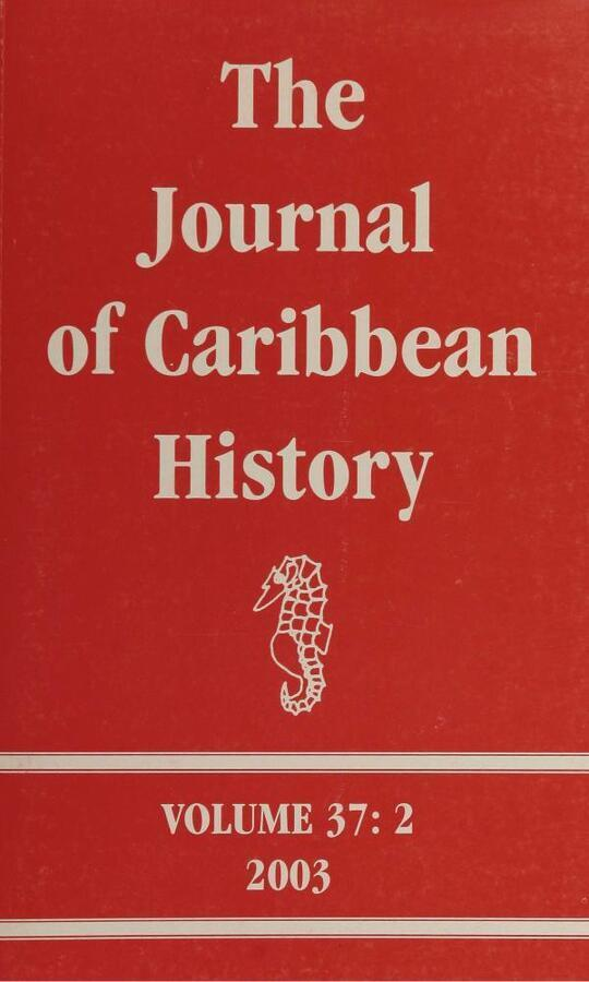 The Journal of Caribbean History Volume 37 Issue 2