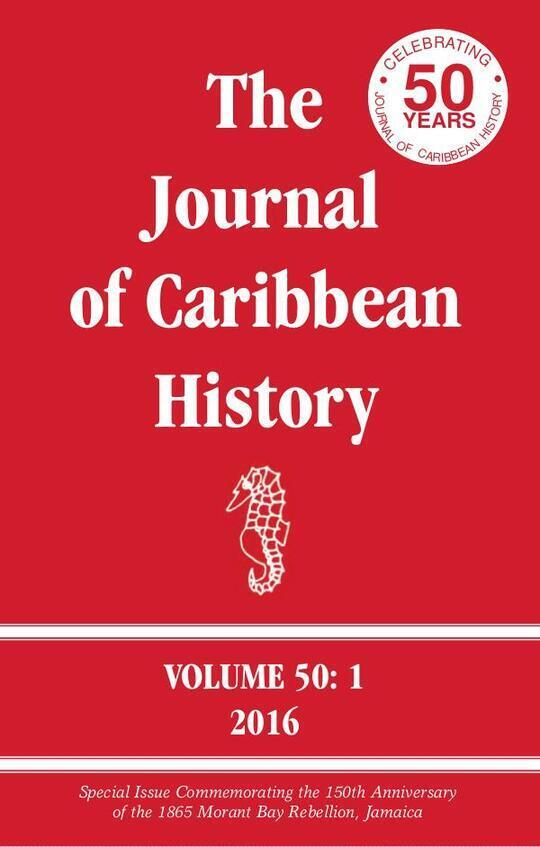 The Journal of Caribbean History Volume 50 Issue 1