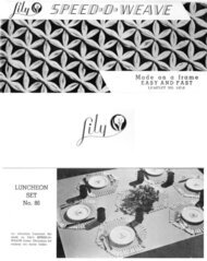 Lily Speed-O-Weave Leaflet No.147-S: Luncheon Set No. 86