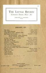 The Little Review, January 1915 (Vol. 1, No. 10)