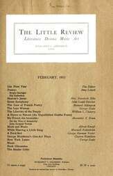 The Little Review, February 1915 (Vol. 1, No. 11)