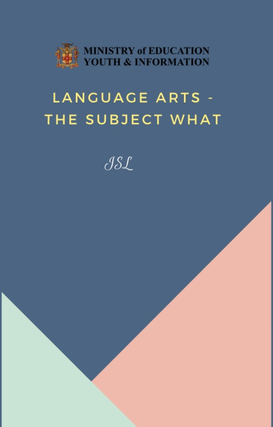 Language Arts  - The Subject What